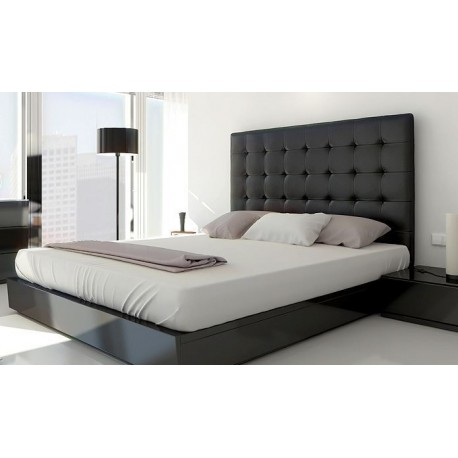t te de lit capitonn e 140 cm simili cuir noir ebay. Black Bedroom Furniture Sets. Home Design Ideas