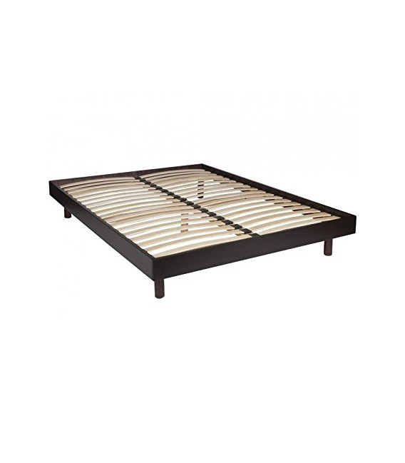 sommier kit 160x200 cm coloris wenge france matelas. Black Bedroom Furniture Sets. Home Design Ideas
