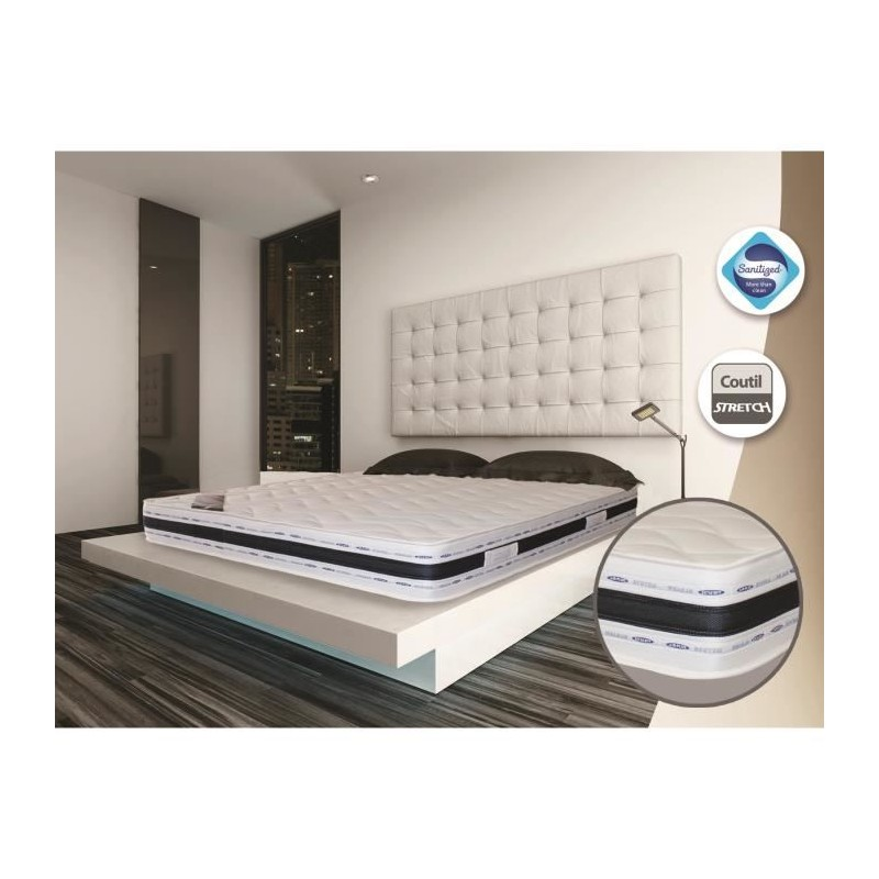 matelas king size 200x200 finest matelas king size x matelas adultes comparer les prix sur. Black Bedroom Furniture Sets. Home Design Ideas