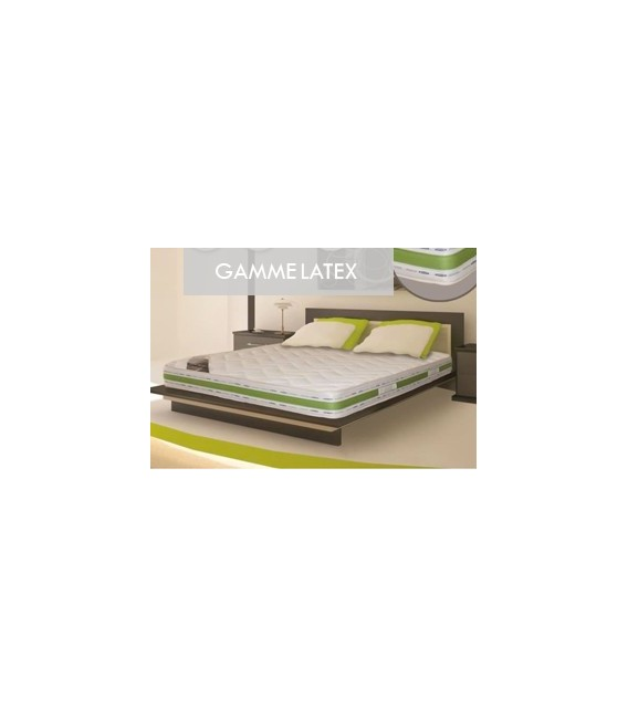 Ensembles latex. Ensemble literie bio latex 90x190 Matelas + sommier