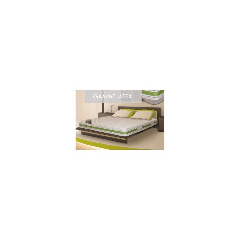 ensemble literie bio latex 90x190 sommier matelas 22 cm ferme. Black Bedroom Furniture Sets. Home Design Ideas