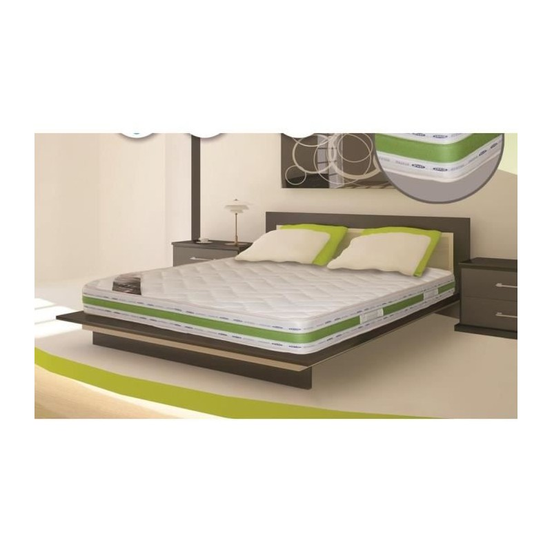 super lit 2 personnes 190x140 sommier matelas bio latex. Black Bedroom Furniture Sets. Home Design Ideas