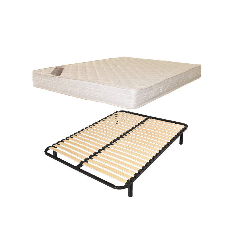 lit 1 personnes 90x190 sommier lattes matelas confort france matelas. Black Bedroom Furniture Sets. Home Design Ideas